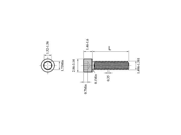 M1.6不锈钢304内六角螺丝
